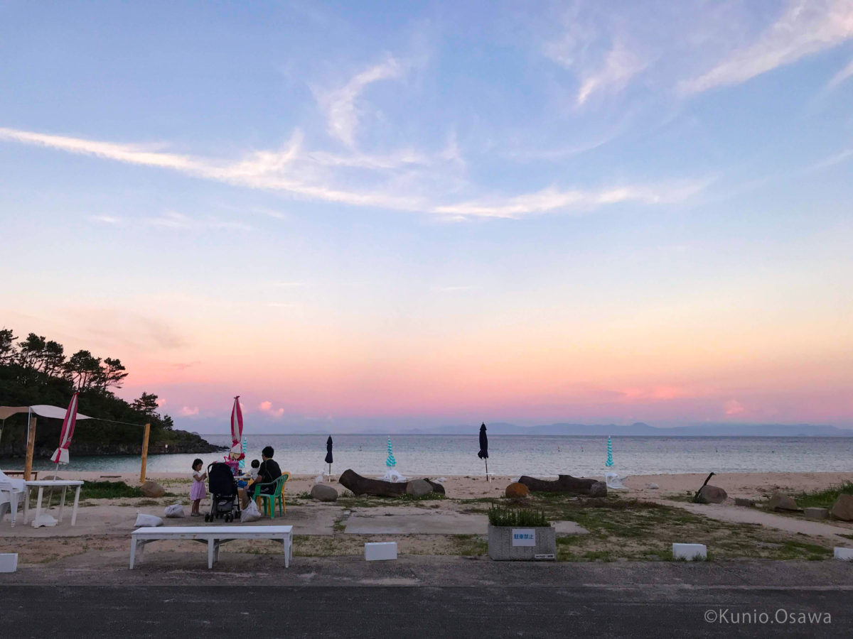 夕方の大浜(c)Kunio.Osawa 大沢くにお